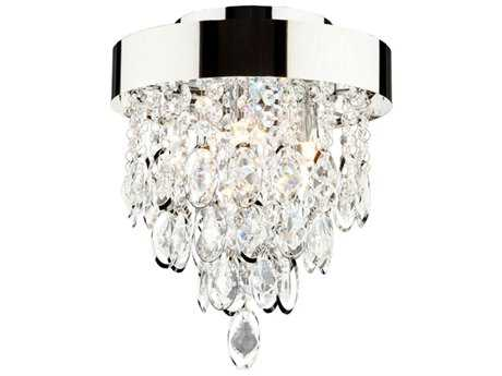 Artcraft Lighting Elegante Chrome Three-Light Semi Flush Mount Light