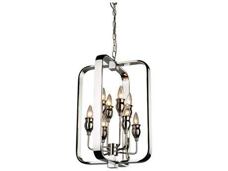 Artcraft Lighting Gagetown Chrome Eight-Light 15'' Wide Mini Chandelier