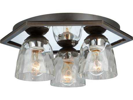 Artcraft Lighting Kent Oil Rubbed Bronze Three-Light Flush Mount Light