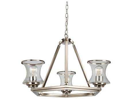 Artcraft Lighting Dorsett Brushed Nickel Three-Light 22'' Wide Chandelier