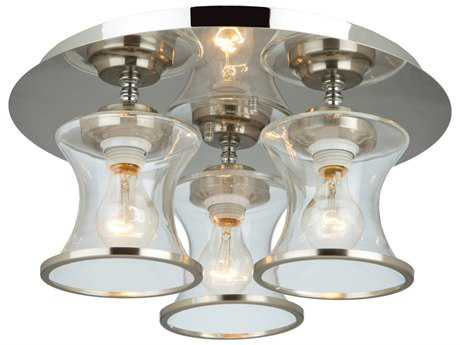 Artcraft Lighting Dorsett Brushed Nickel Three-Light Flush Mount Light