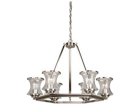 Artcraft Lighting Dorsett Brushed Nickel Six-Light 30'' Wide Chandelier