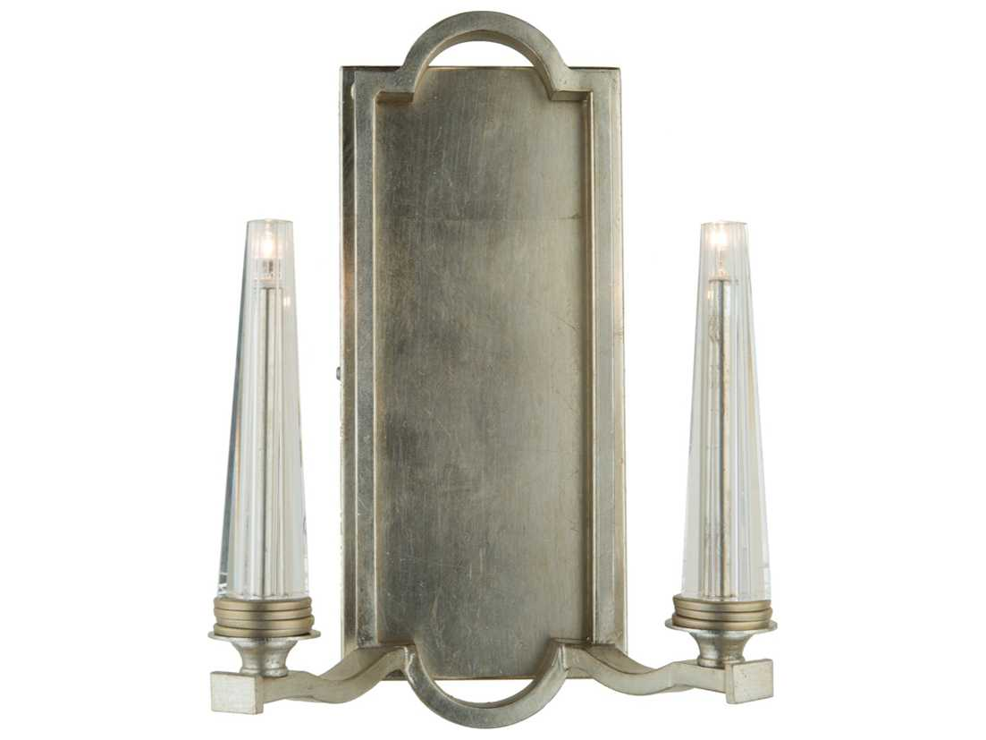 Artcraft Lighting Perceptions Silver Leaf Two-Light Wall Sconce ACAC10252SL