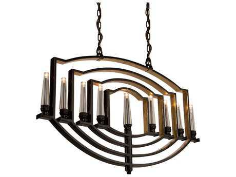 Artcraft Lighting Perceptions Oil Rubbed Bronze Nine-Light 40'' Wide Island Light