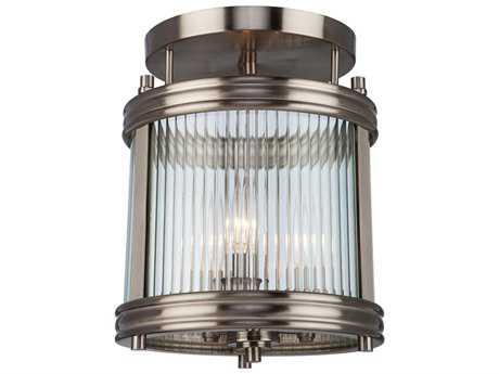 Artcraft Lighting Bankroft Brushed Nickel Three-Light Semi-Flush Mount Light