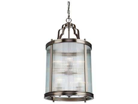 Artcraft Lighting Bankroft Brushed Nickel Eight-Light Pendant Light