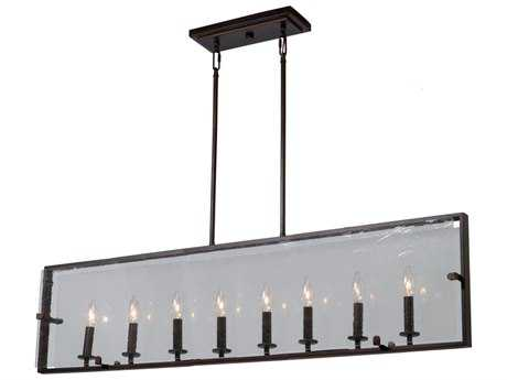Artcraft Lighting Harbor Point Oil Rubbed Bronze Eight-Light 41'' Wide Island Light
