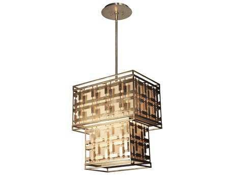 Artcraft Lighting Keinilworth Silver Leaf Three-Light 10.5'' Wide Pendant Light