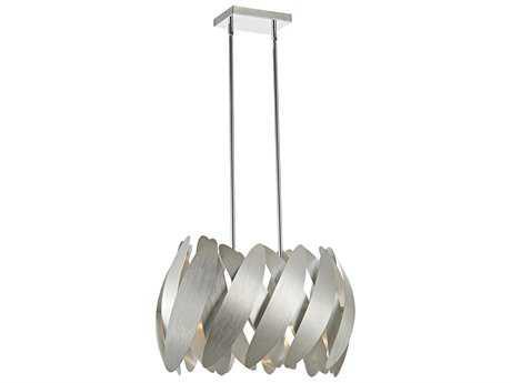 Artcraft Lighting 5th Avenue Brushed Nickel & Chrome 9 12'' Wide Pendant Light