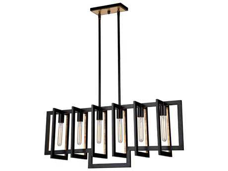 Artcraft Lighting Capetown Oil Rubbed Bronze Six-Light 8'' Wide Island Light