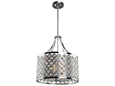 Artcraft Lighting Lattice Chrome Three-Light Pendant Light
