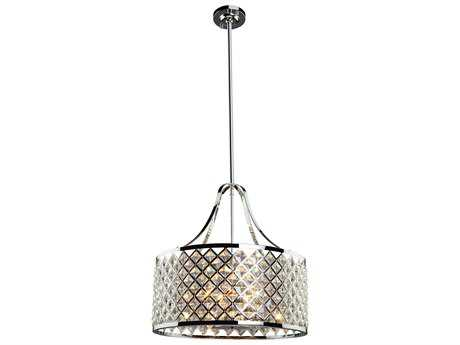 Artcraft Lighting Lattice Chrome Five-Light Pendant Light