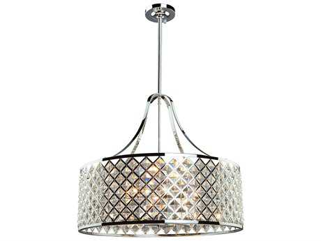 Artcraft Lighting Lattice Chrome Six-Light Pendant Light