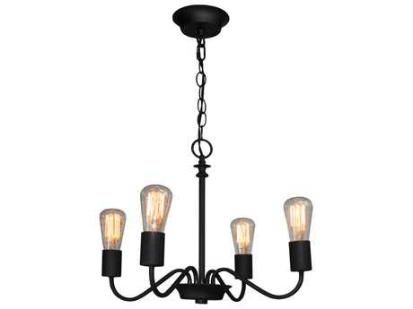 Artcraft Lighting Jasper Park Black Four-Light 18.5'' Wide Chandelier