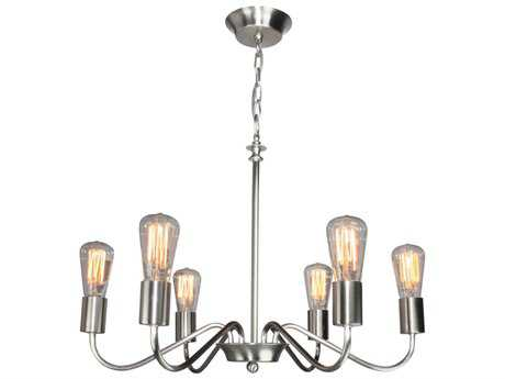 Artcraft Lighting Jasper Park Brushed Nickel Six-Light 24'' Wide Chandelier
