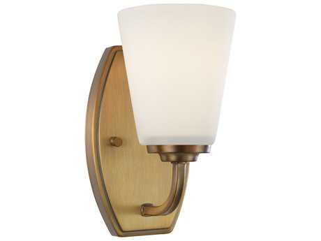 Artcraft Lighting Hudson Vintage Brass 4.5'' Wide Wall Sconce