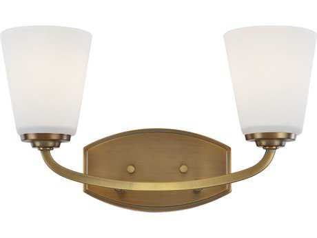 Artcraft Lighting Hudson Vintage Brass Two-Light Wall Sconce