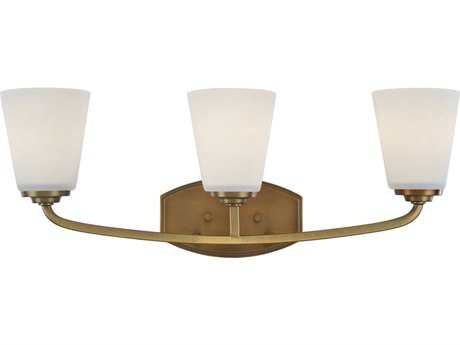 Artcraft Lighting Hudson Vintage Brass Three-Light Wall Sconce