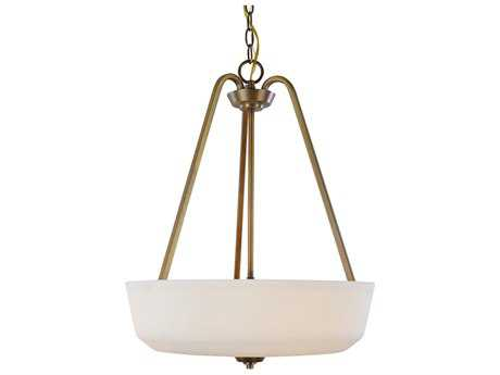 Artcraft Lighting Hudson Vintage Brass Three-Light 18'' Wide Pendant Light