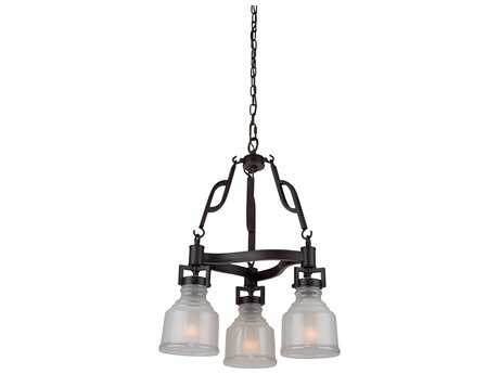 Artcraft Lighting Franklin Black Three-Light 19.25'' Wide Chandelier