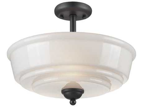 Artcraft Lighting Franklin Three-Light Semi-Flush Mount Light