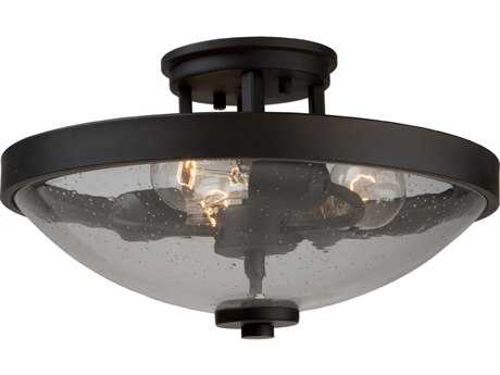 Artcraft Lighting San Antonio Java Brown Three-Light Semi-Flush Mount Light
