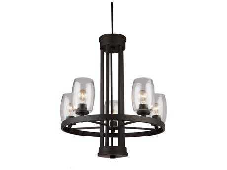 Artcraft Lighting San Antonio Java Brown Five-Light 25.5'' Wide Chandelier