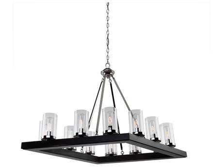 Artcraft Lighting Canyon Creek Black 12-Light 25'' Wide Chandelier
