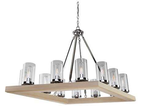 Artcraft Lighting Canyon Creek Authentic Pine 12-Light 25'' Wide Chandelier