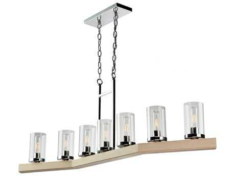 Artcraft Lighting Canyon Creek Authentic Pine Seven-Light Island Light