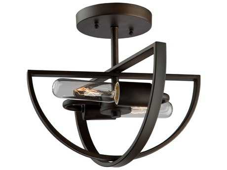 Artcraft Lighting Newport Two-light 12'' Wide Semi-Flush Mount Light