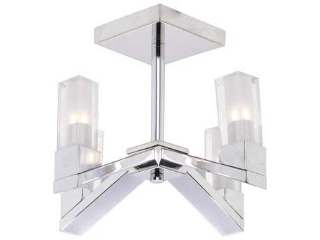 Artcraft Lighting Lux Chrome Four-Light 11'' Wide Semi-Flush Mount Light