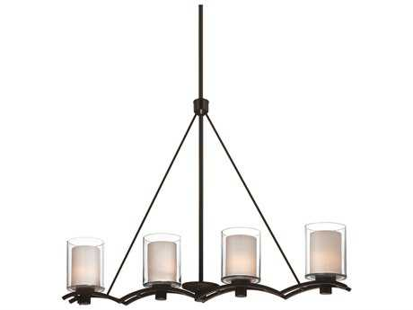 Artcraft Lighting Andover Oil Brushed Bronze Four-Light Island Light