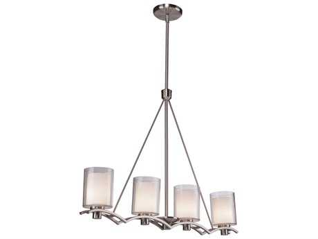 Artcraft Lighting Andover Polished Nickel Four-Light Island Light