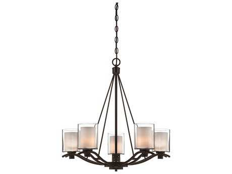Artcraft Lighting Andover Oil Brushed Bronze Five-Light 26'' Wide Chandelier