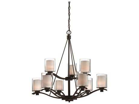 Artcraft Lighting Andover Oil Brushed Bronze Nine-Light 30'' Wide Chandelier