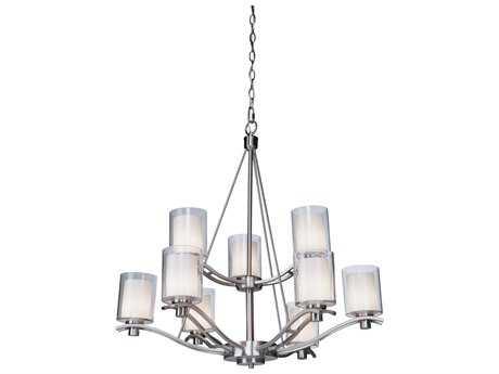 Artcraft Lighting Andover Polished Nickel Nine-Light 30'' Wide Chandelier