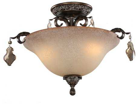 Artcraft Lighting Vienna Bronze Three-Light Semi-Flush Mount Light