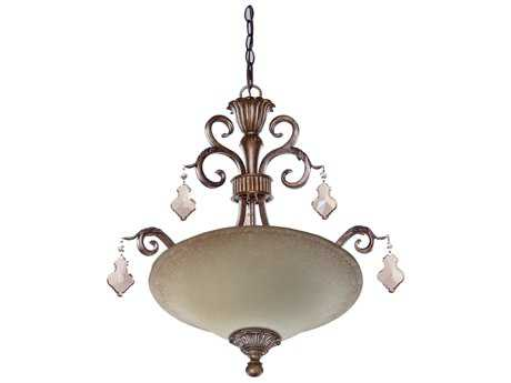 Artcraft Lighting Vienna Bronze Three-Light Pendant Light
