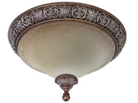Artcraft Lighting Vienna Bronze Two-Light Flush Mount Light