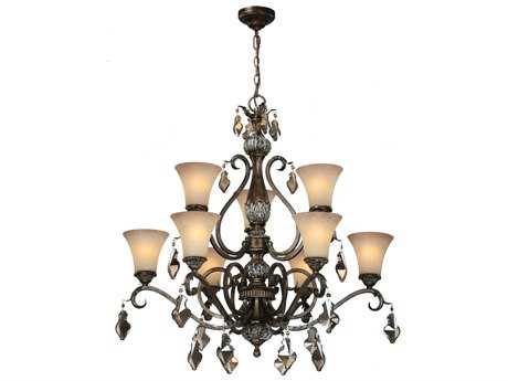 Artcraft Lighting Vienna Bronze Nine-Light 35'' Wide Chandelier