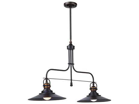 Artcraft Lighting Heath Dark Bronze Two-Light Island Light