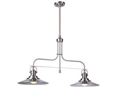 Artcraft Lighting Heath Satin Nickel Two-Light Island Light
