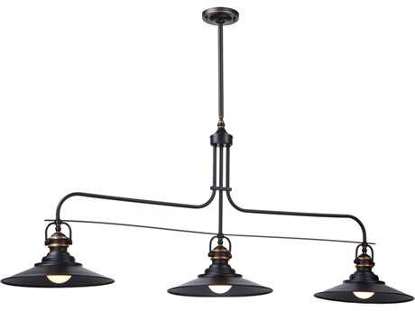 Artcraft Lighting Heath Dark Bronze Three-Light Island Light