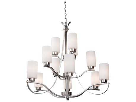 Artcraft Lighting Russell Hill Polished Nickel 12-Light 33'' Wide Chandelier
