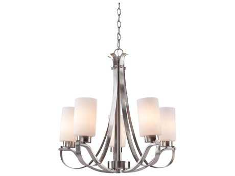 Artcraft Lighting Russell Hill Polished Nickel Five-Light 26'' Wide Chandelier