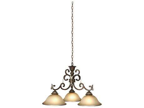 Artcraft Lighting Florence Bronze Three-Light 31'' Wide Chandelier