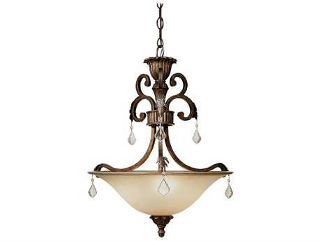 Artcraft Lighting Florence Bronze Three-Light Pendant Light
