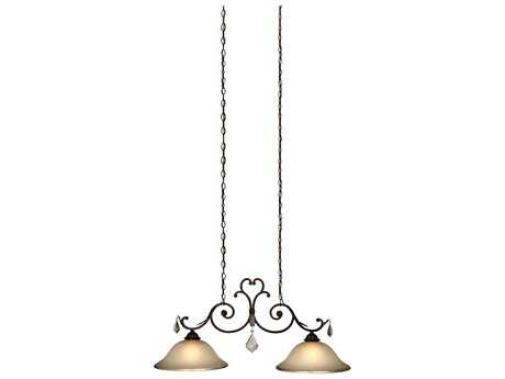 Artcraft Lighting Florence Bronze Two-Light Pendant Light
