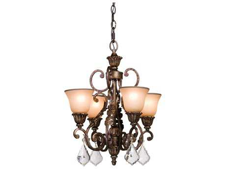 Artcraft Lighting Florence Gold Four-Light 20'' Wide Chandelier